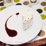 Frozen Nougat with Cherry Coulis
