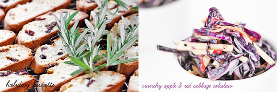 Holiday Biscotti & Apple Coleslaw
