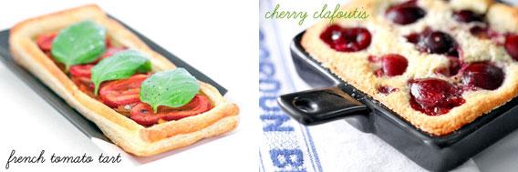 Tomato Tart & Cherry Clafoutis