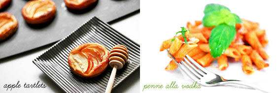 Apple Tartlet & Penne alla Vodka