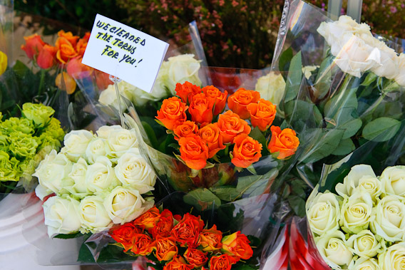 Fresh Flowers at the Brentwood Farmers Market, Los Angeles