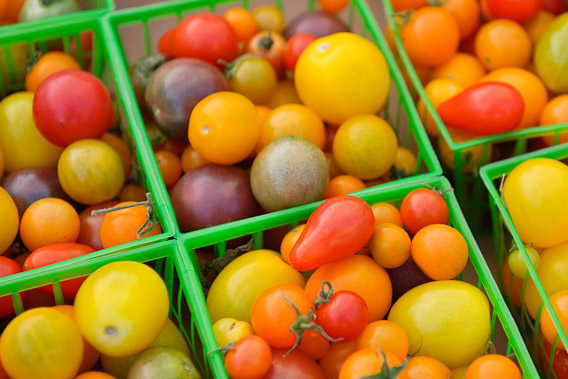 Organic Cherry Tomatoes - Brentwood Farmers Market, Los Angeles