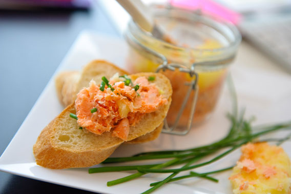 Salmon rillettes appetizer made by one of our cooking class students