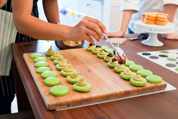 assembly of the pistachio macarons during our september 2012 macaron ...